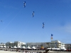 Formation Kite Flying at Berck Sur Mer Kite Festival